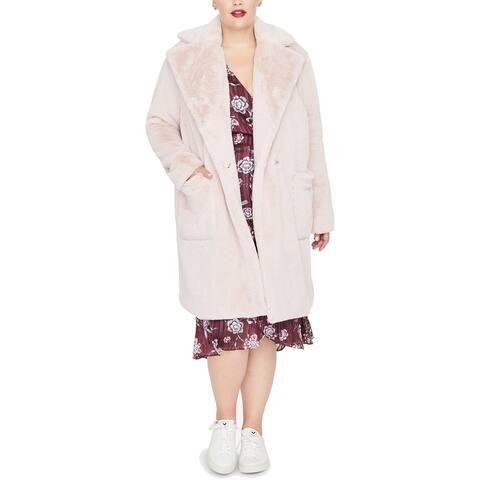 RACHEL Rachel Roy Women's Trendy Plus Size Faux-Fur Jacket (1X)