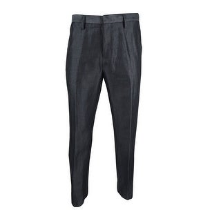 Calvin Klein Men's Slim-Fit Micro-Herringbone Pants - Grey