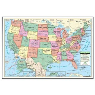 Universal Map 17129 48 x 28 in. US Fold Map