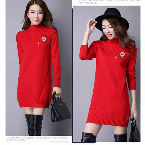 Half-Neck Sweater Korean Knit Bottoming Shirt
