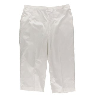 Alfred Dunner Womens Capri Pants Flat Front Stretch - 16