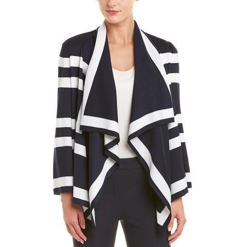St. John Wool-Blend Knit Cardigan Wrap