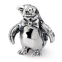 Sterling Silver Reflections Penguin Bead (4mm Diameter Hole)