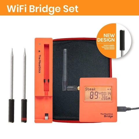 The MeatStick WiFi Bridge Set Unlimited Range Meat Thermometers - One size