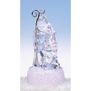 Icy Crystal Lighted Holy Family Christmas Nativity Figure