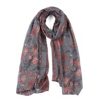 Large Polyester Scarves Beach Shawl Vintage Style Wraps For Women Gray