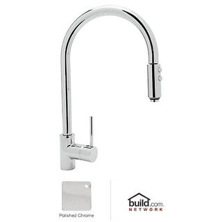 Rohl LS57L-2 Modern Kitchen Faucet with Pull Down Spray and Metal Lever Handle