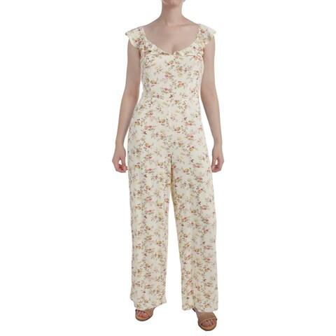 Denim & Supply Ralph Lauren Womens Jumpsuit Modal Floral Print
