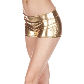 Banded Metallic Shorts, Banded Shorts - One Size Fits most