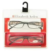 Elizabeth Arden Womens 2 Pack Plastic Reading Glasses +2.5 Brown/Red EA003, Includes Elizabeth Arden Soft Fashion Case - Brown