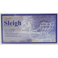 "42"" Lighted White Sleigh Christmas Outdoor Decoration - Clear Lights"