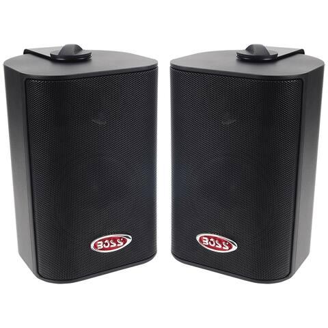 Boss audio mr43b boss 3-way indoor/outdoor speaker black