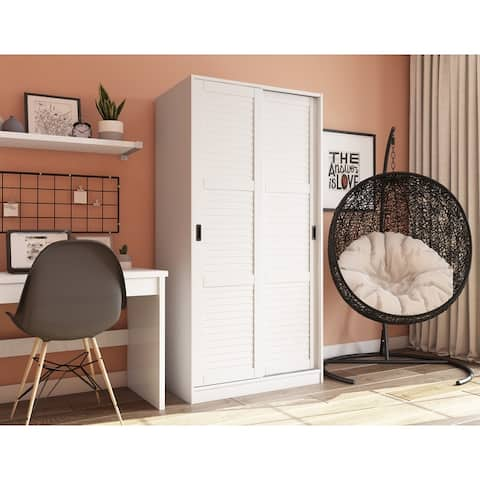 Copper Grove Caddo Solid Wood Wardrobe with Two Sliding Doors