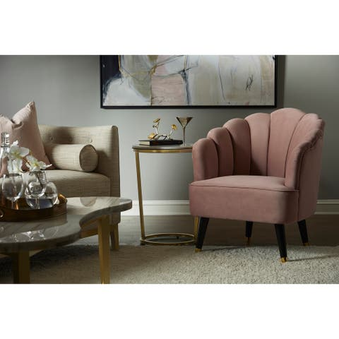 Channel Tufted Venus Accent Chair in Pink