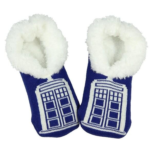 Doctor Who Tardis Women's Slip On Slipper Sock
