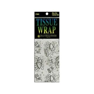 Cindus Tissue Wrap 20x20 4pc Printed Wedding Bells