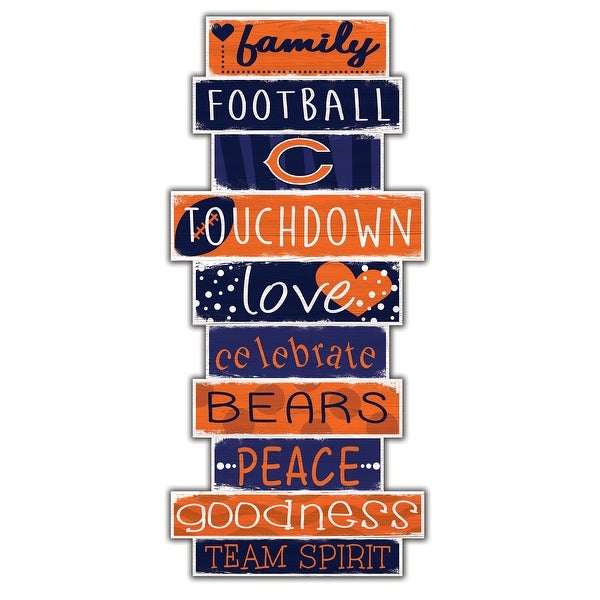"""Chicago Bears Celebrations Stack 24"""" Wood Sign"""