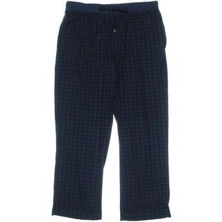 Nautica Sleepwear Mens Fleece Buffalo Plaid Sleep Pant - XL