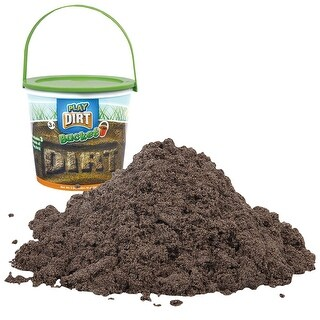 Play Dirt Bucket (3 Lb) - Unique Kinetic Dirt-Like Sand For Burying and Digging Fun by Sands Alive - brown