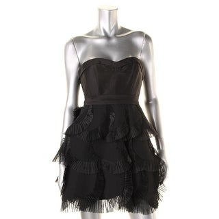 BCBG Max Azria Womens Petites Silk Prom Party Dress - 0p