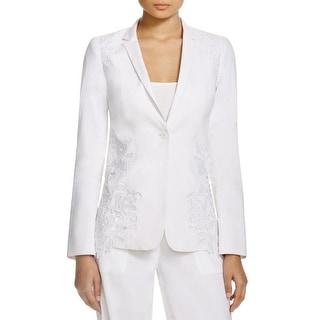 Elie Tahari Womens Jacket Lace Overlay Lined