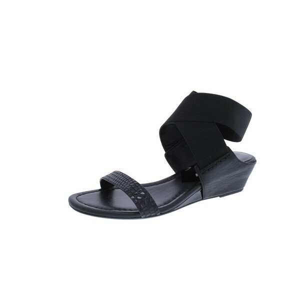Donald J. Pliner Womens Eeva Wedge Sandals Textured Open Toe