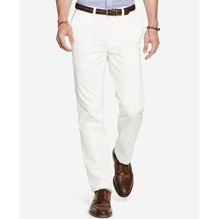 "Polo Ralph Lauren Men's Classic-Fit Flat-Front Chino Pants White Size 33""W x 30""L - 33X30"