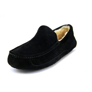 Ugg Australia Ascot Men Round Toe Suede Black Slipper|https://ak1.ostkcdn.com/images/products/is/images/direct/bf1e046fb43bd372dae4a3186173275c15821206/Ugg-Australia-Ascot-Men-Round-Toe-Suede-Black-Slipper.jpg?_ostk_perf_=percv&impolicy=medium