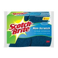 Scotch Brite 526 Multi-Purpose Non Scratch Scrub Sponge, 6/Pack