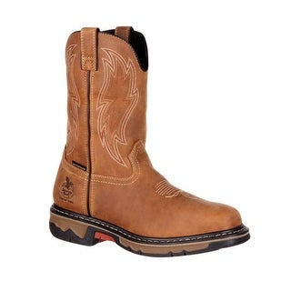 Georgia Boot Work Mens Rubber Carbo-Tec Wellington Dark Brown GB00162