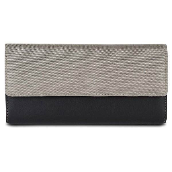 Travelon SafeID Accent Flap Clutch Wallet, Stone