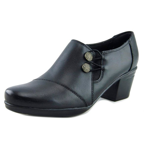62b5f391f3c Shop Clarks Emslie Warren Women Round Toe Leather Black Bootie ...