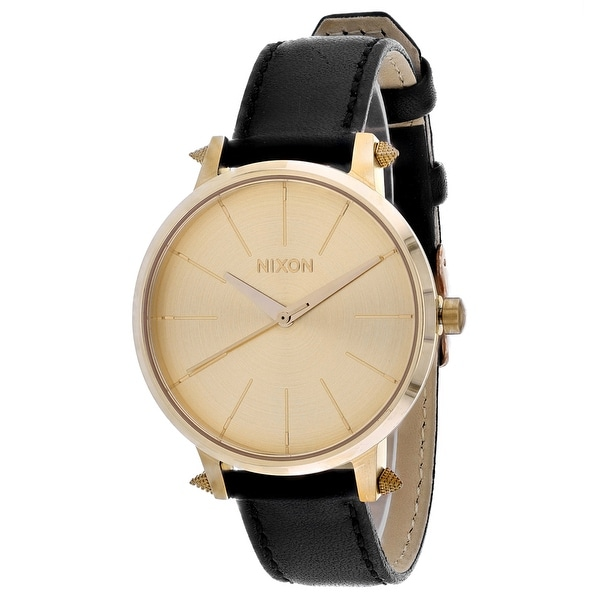 Nixon Women's Kensington Leather Gold Watch - A108-3148 - One Size. Opens flyout.