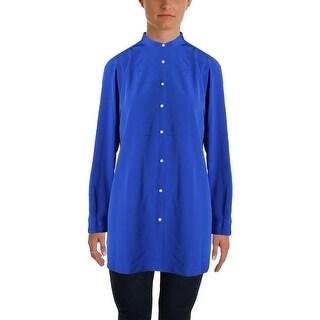 Lauren Ralph Lauren Womens Tunic Top Jacquard Solid