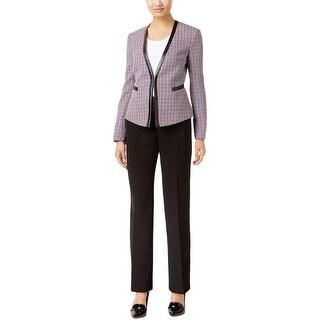 Tahari ASL Womens Pant Suit Tweed 2PC