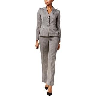 Le Suit Womens Three-Button Suit Jacket 2 Piece Notch Collar - 8