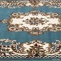 "Allstar Blue Woven High Quality Rug. Traditional. Persian. Flower. Western. Design Area Rug (5' 2"" x 7' 1"") - Thumbnail 4"
