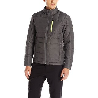 Spyder Dolomite Full Zip 700 Fill Down Jacket X-Large Polar Grey & Bryte Yellow