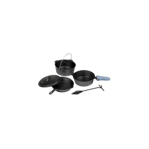 Stansport 16903B Cast Iron 6 Piece Cookware Set