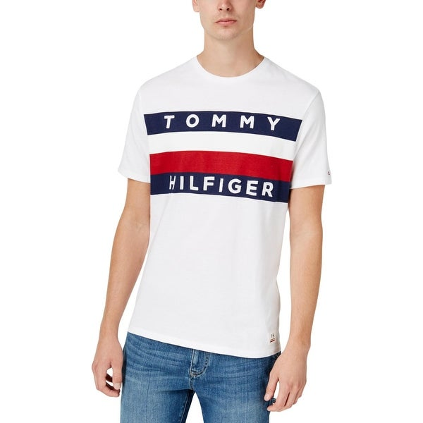 b1798e715 Shop Tommy Hilfiger Mens Big & Tall Graphic T-Shirt Striped Logo - XLT -  Free Shipping On Orders Over $45 - Overstock - 26441549