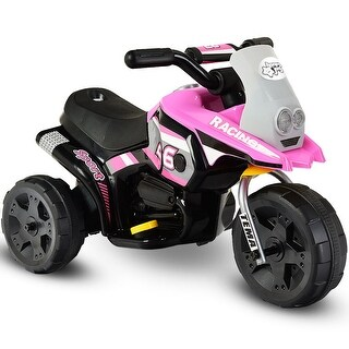 6V Kids Ride On Motorcycle Battery Powered 3 Wheel Bicycle Electric Toy Pink