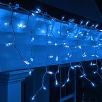 "Wintergreen Lighting 15240 Mini Icicle Lights with 4"" Spacing and White Wire - BLue - N/A"