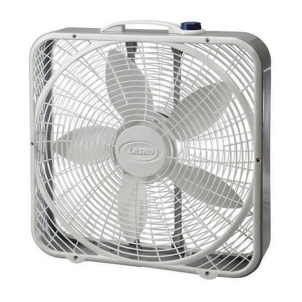 "Lasko 3723 Premium Portable Box Fan, 20"", 3-Speed"