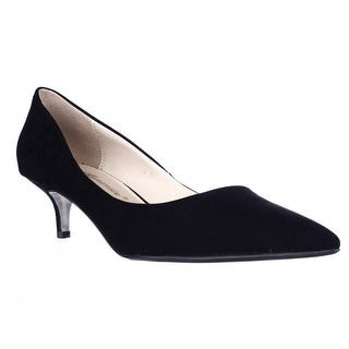 Athena Alexander Teagan Pointed Toe Kitten Dress Pumps - Black