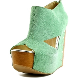 Chinese Laundry Jam Session Women Open Toe Suede Wedge Heel