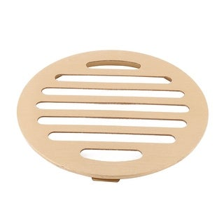 Bathroom Stainless Steel Sink Strainer Filter Floor Drain Cover Cap Gold Tone