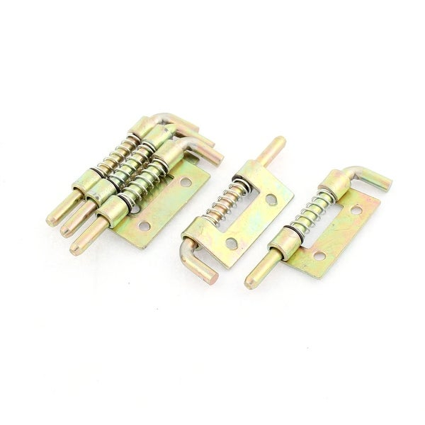 Cabinet Door Hinges Spring Loaded Metal Left Barrel Bolt Latch 53mm