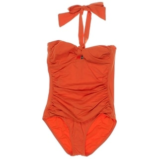 Tommy Bahama Womens Bandeau Knot-Front One-Piece Swimsuit - 8