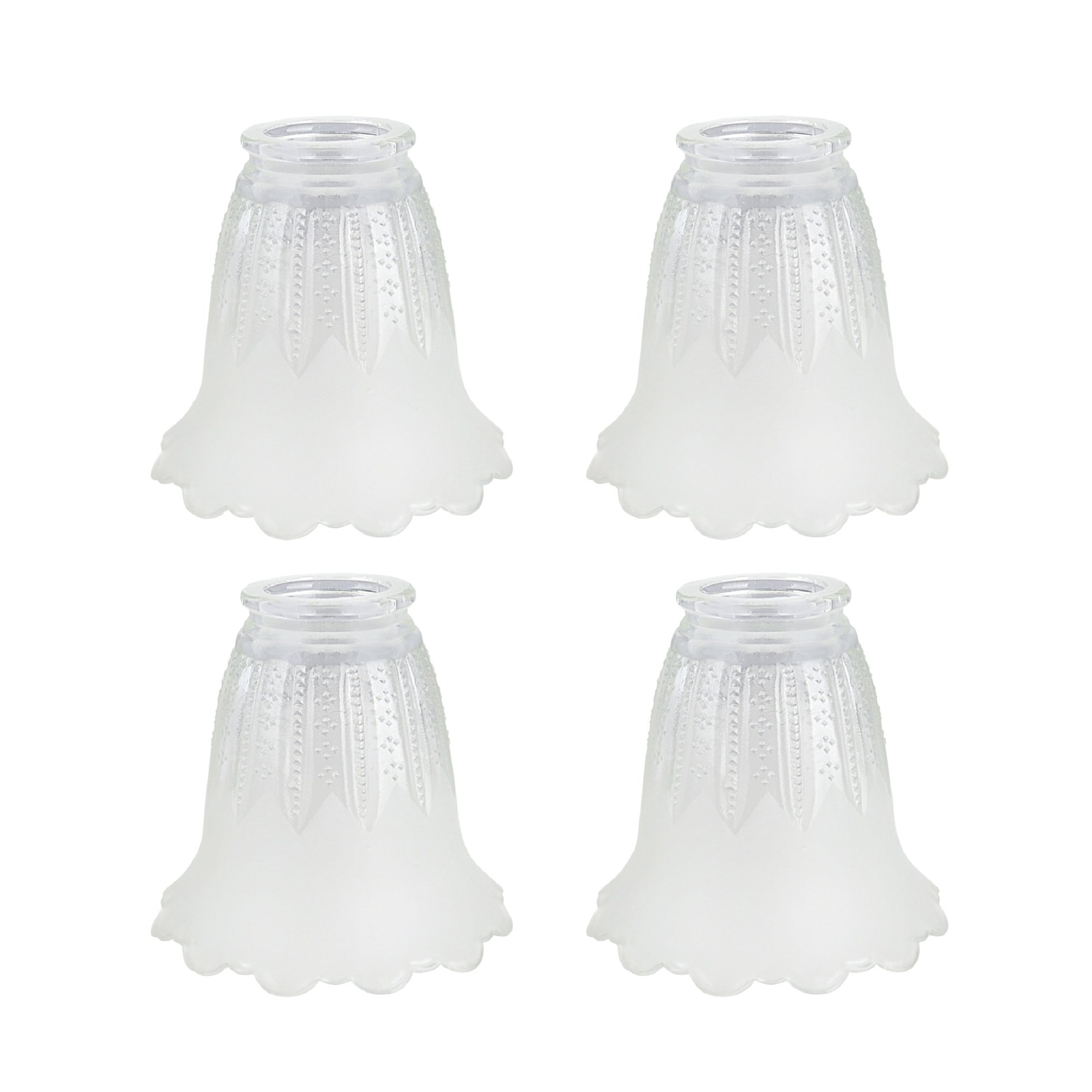 Aspen Creative Clear Frosted Replacement Glass Shade 2 1 8 Fitter Size 4 1 2 High X 5 Diameter Set Of 4 On Sale Overstock 31300471