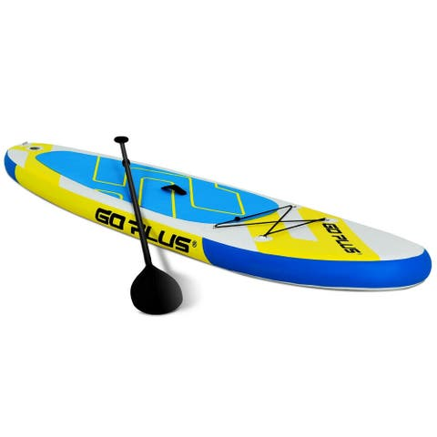 10' Inflatable Stand up Paddle Surfboard with Bag - Yellow